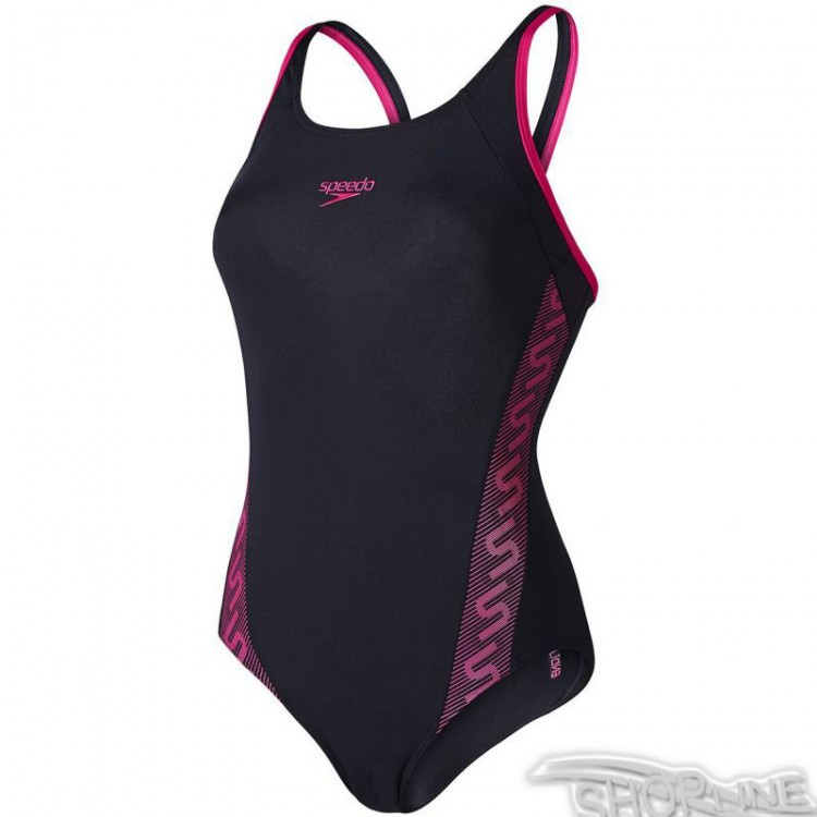 Plavky Speedo Monogram Muscleback W - 8-087333597  a1adc2be19