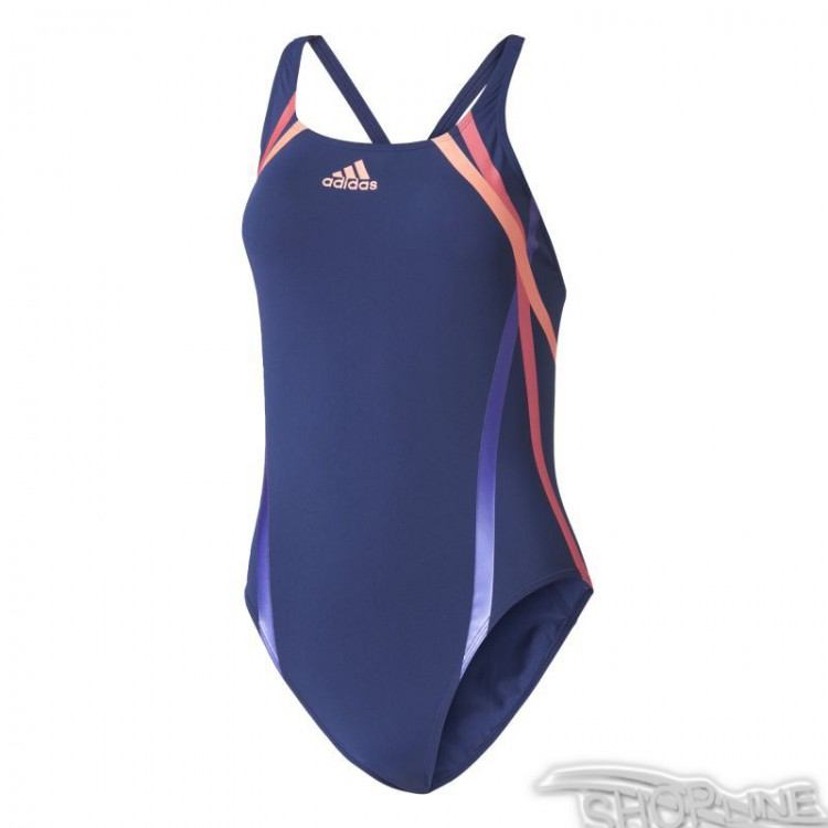 Plavky Adidas Rubber-Printed Swimsuit Infinitex W - BR5724