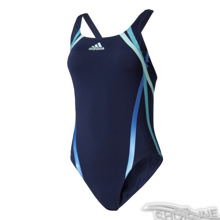 Plavky Adidas Rubber-Printed Swimsuit Infinitex W - BR5731