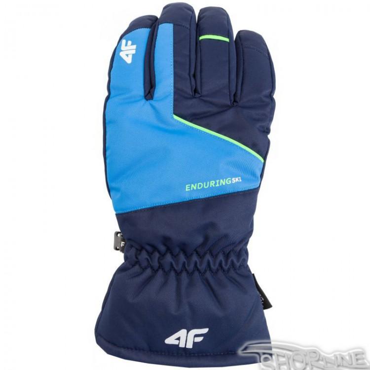 d741f20dc53f Lyžiarske rukavice 4f M - H4Z17-REM001-GRANAT-CIEMNY