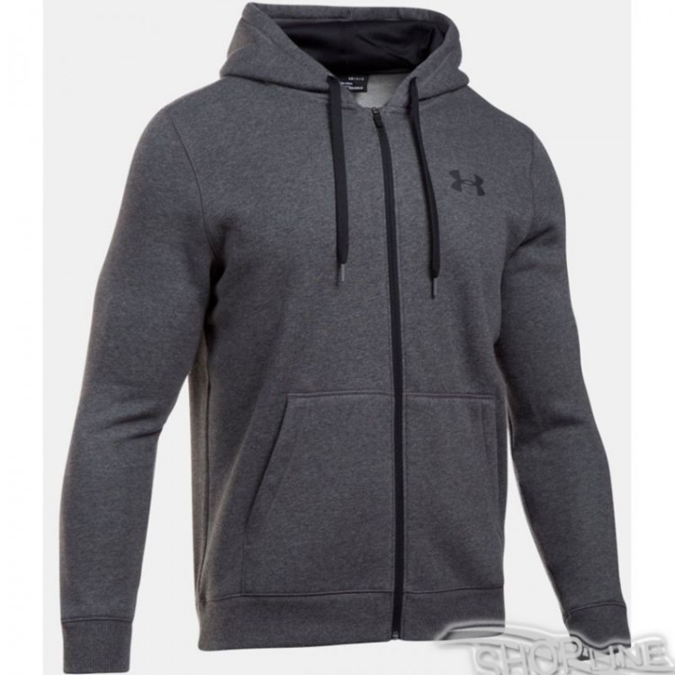 Mikina Under Armour Rival Fitted Full Zip Hoodie M - 1302290-090