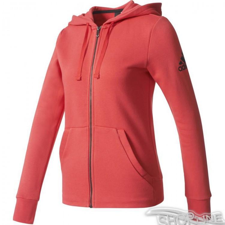 Mikina Adidas Essentials Solid Full Zip Hoodie W - S97084  9e6cb1c8baf