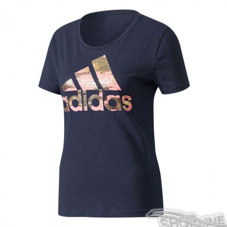 Tričko Adidas Essentials Foil Bos Regular Tee W - CD1954