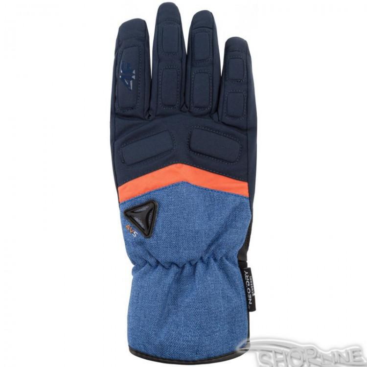 Lyžiarske rukavice 4f  M - H4Z17-REM004-GRANAT-CIEMNY