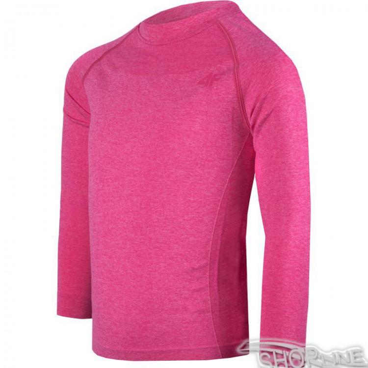 Termo tričko 4f Kids - J4Z17-JBIDB300-ROZ-MELANZ